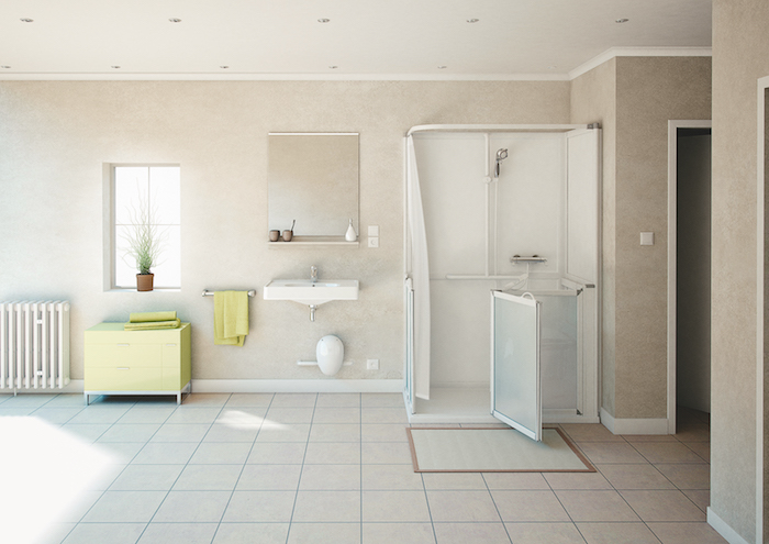 acc s s niors barre d 39 appui douche si ge mitigeur acces seniors. Black Bedroom Furniture Sets. Home Design Ideas
